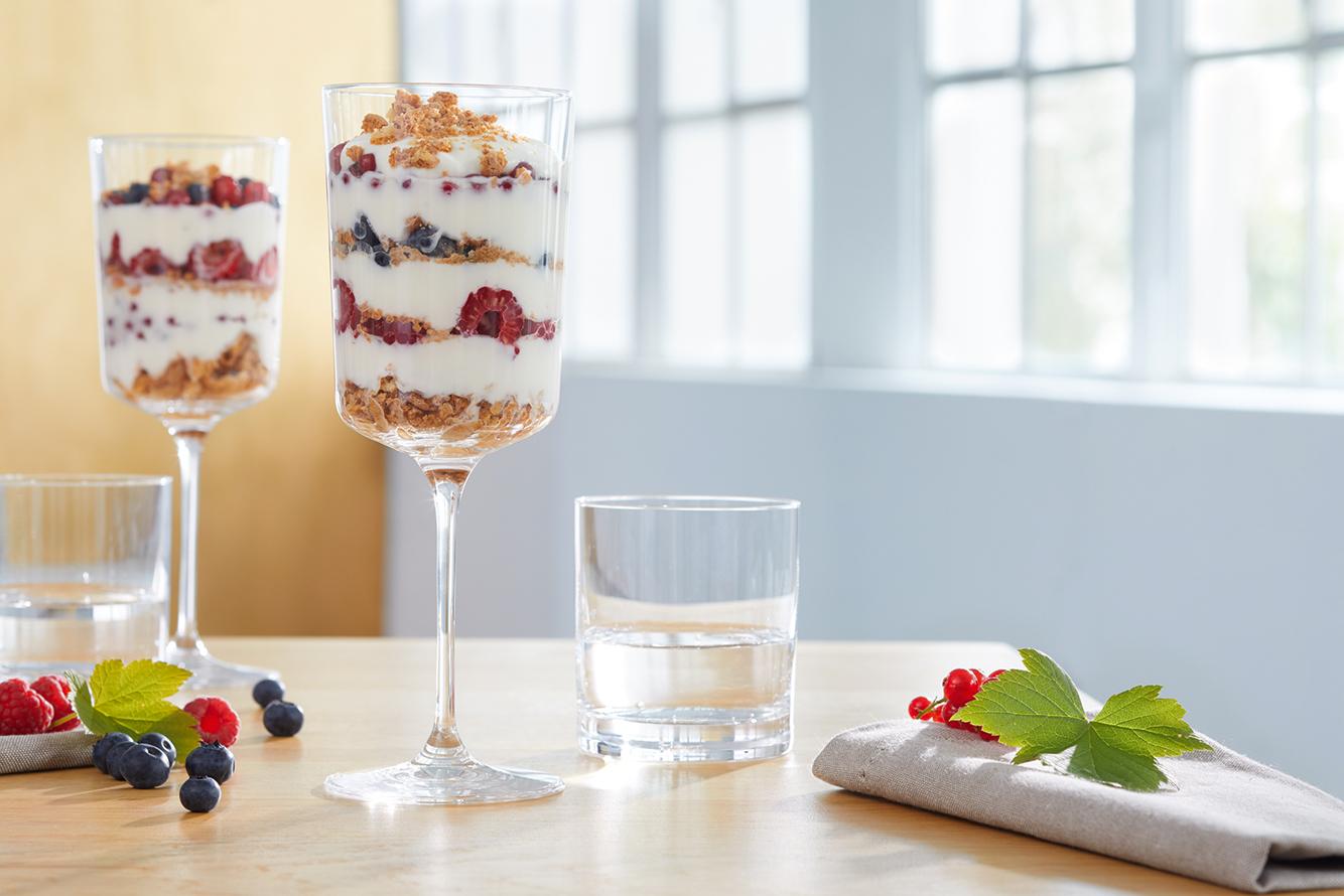 Oder wie wäre es mit einem köstlichen Dessert im Weißweinglas?
